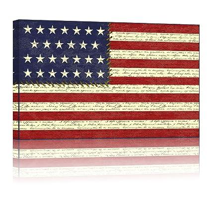 Amazon Large 24x36 America Flag Canvas Wall Art American