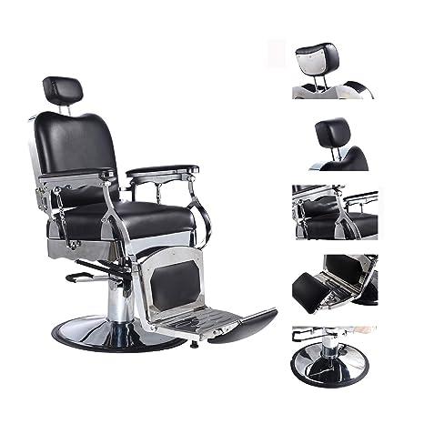 Amazon.com: Walsport - Silla de peluquería hidráulica negra ...