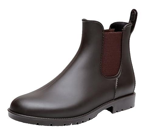 AgeeMi Shoes Mujer Botines Agua Estilo Chelsea Para Mujer Impermeable Botas: Amazon.es: Zapatos y complementos