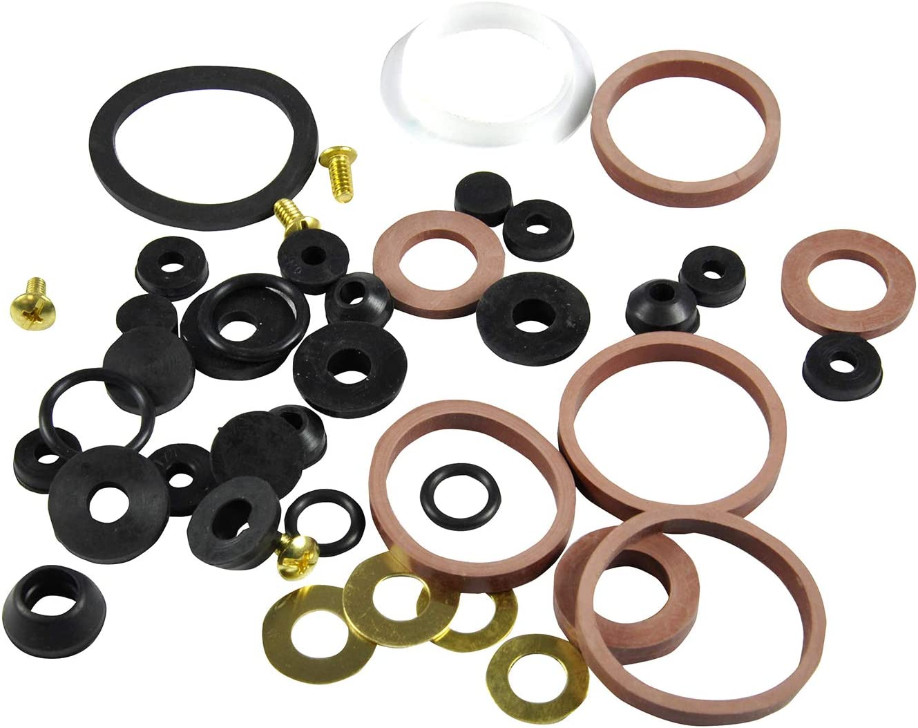 Black 42-Piece Danco 80817 Home Washer Assortment Pack of 3
