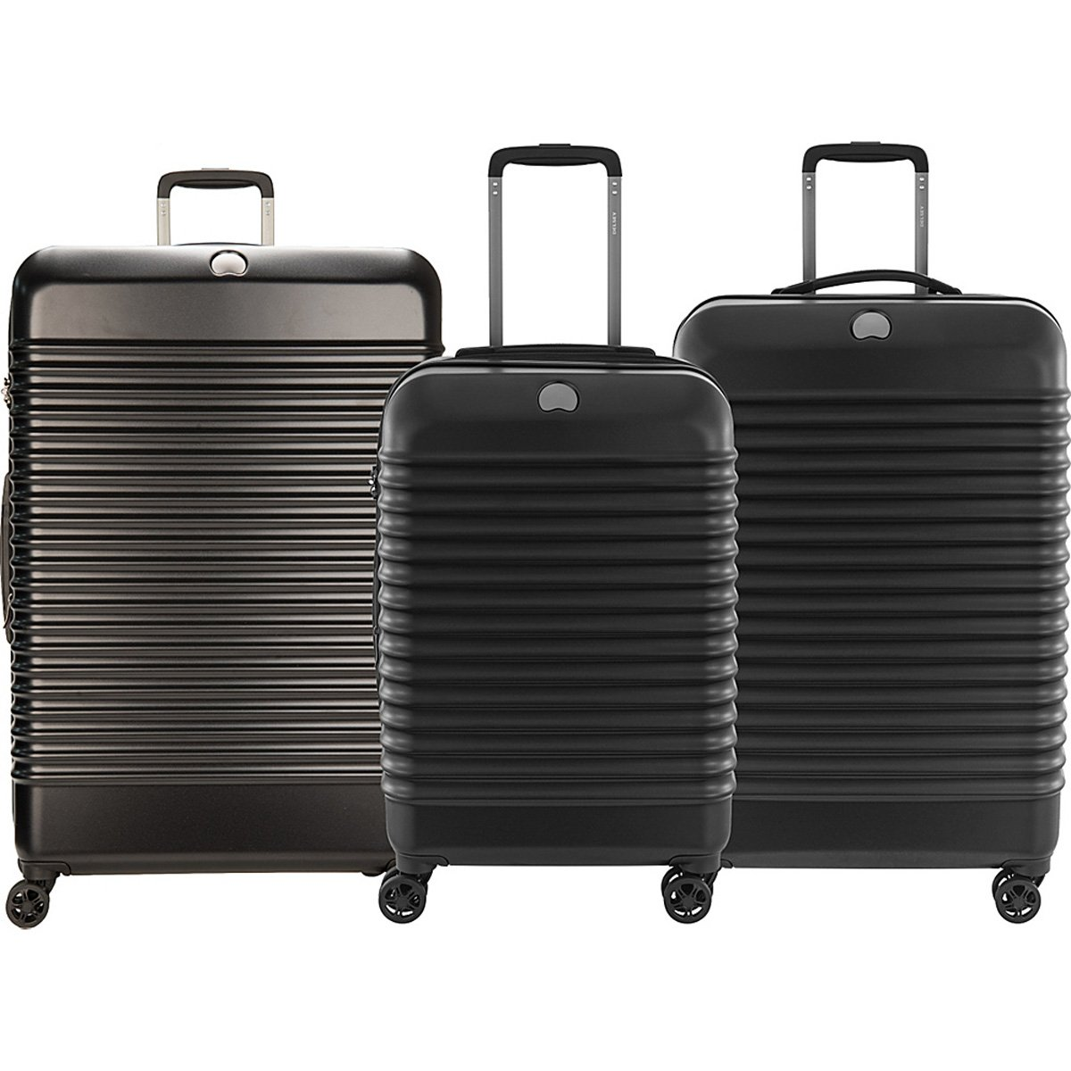 The Set of Classic black Bastille Lite Expandable 4 Wheel Spinner Luggage Set