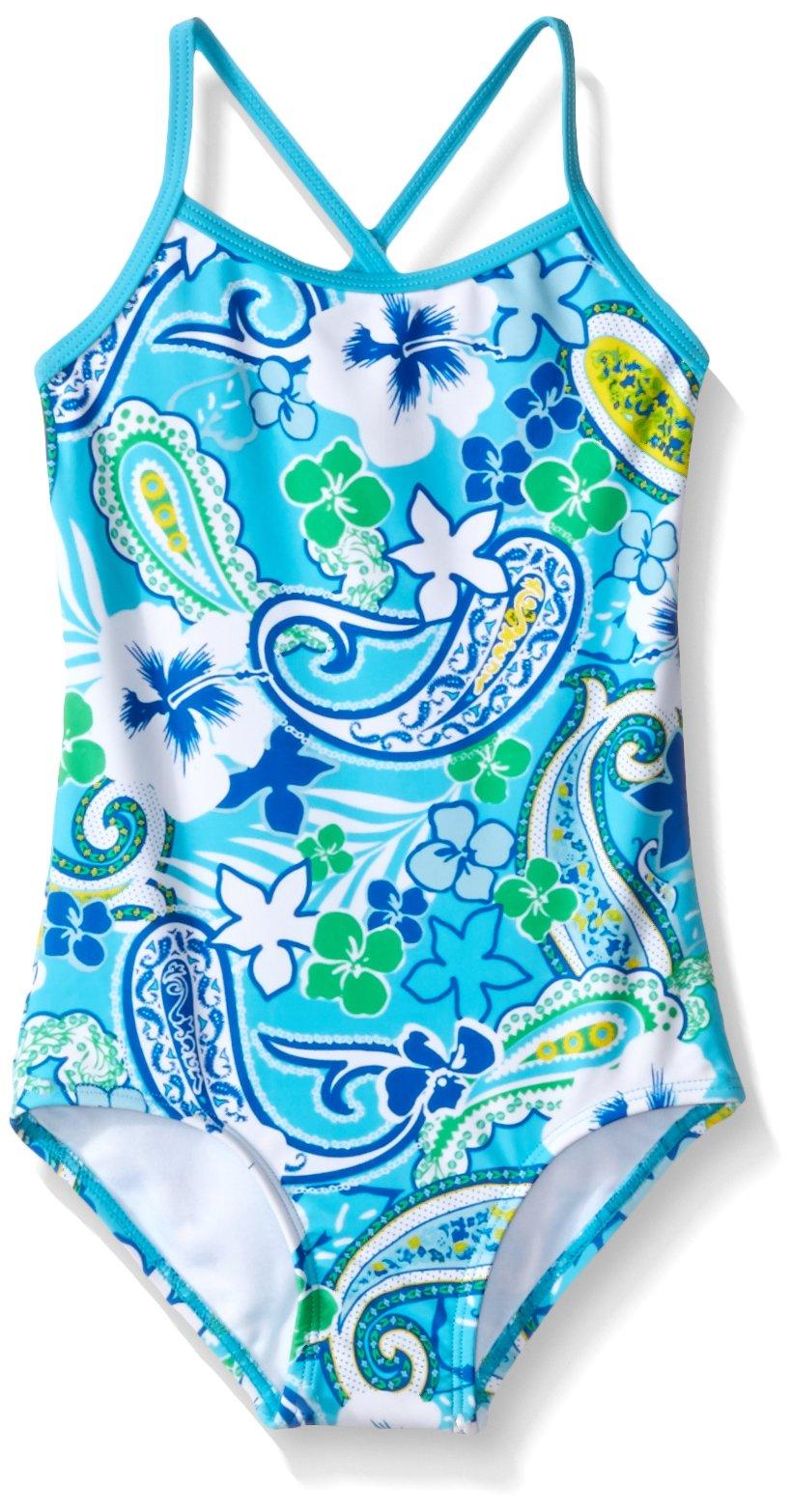 Kanu Surf Big Girls Summer Dream One Piece Swimsuit, Blue, 10