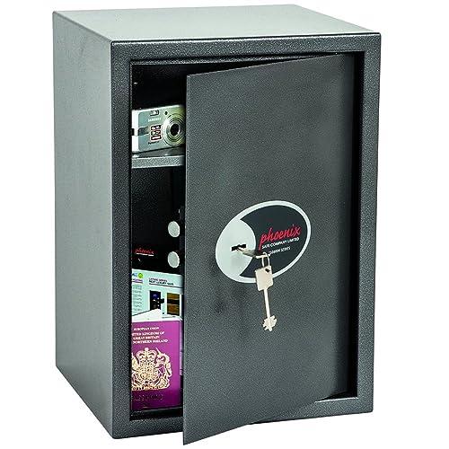 Phoenix Vela Home Office Security Safe with Key Lock (Large)