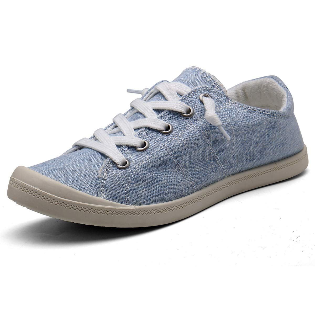 Blue and White Canvas Shoes