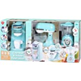 Playgo Children's Gourmet Kitchen Appliances Playset- Battery Operated Mixer, Water Dispensing Coffee Maker, and Pop-Up…