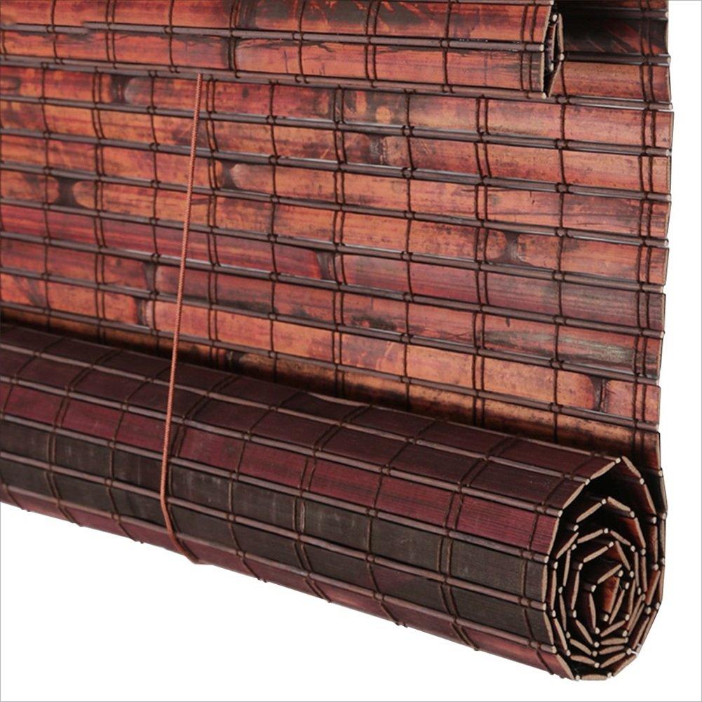Bamboo Curtain Carbon Burning neroout Curtain Esterni Impermeabile Muffa Antipioggia Partition Tea Room Balcone Multi-Dimensione Optional 3 Clolor traspirabilità (colore   C, Dimensioni   90X180cm)