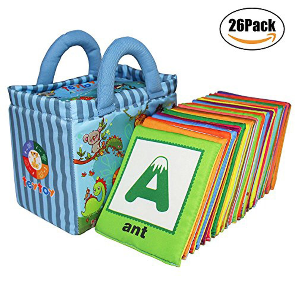 teytoy Baby Toy Zoo Series 26pcs Soft Alphabet Cards with Cloth Bag for Over 0 Years by teytoy (Image #7)