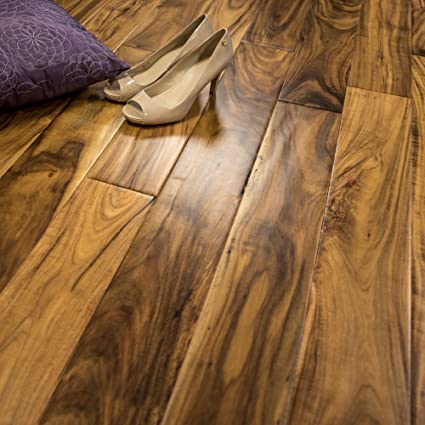 Acacia Hand Scraped Prefinished Engineered Wood Flooring 5 X 12