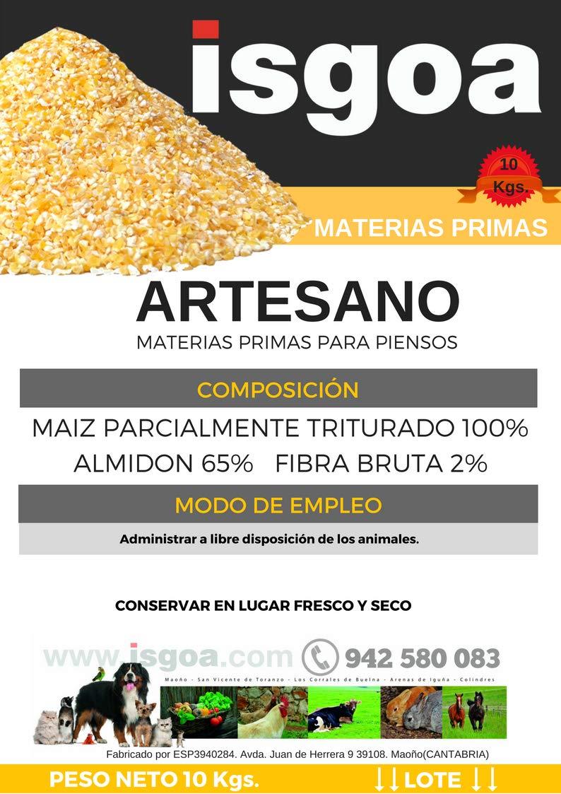 MAIZ Cascado Artesano para Gallinas, Pollos. Saco 10 kg Isgoa: Amazon.es: Jardín