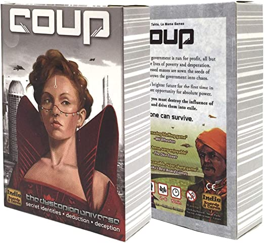 ZWCC Quality Coup Game Party Family Juego De Mesa: Amazon.es: Hogar
