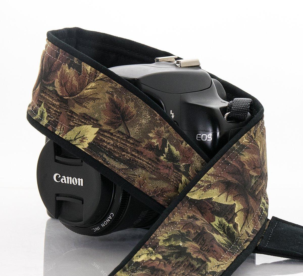 Woodland Camo Camera Strap 016