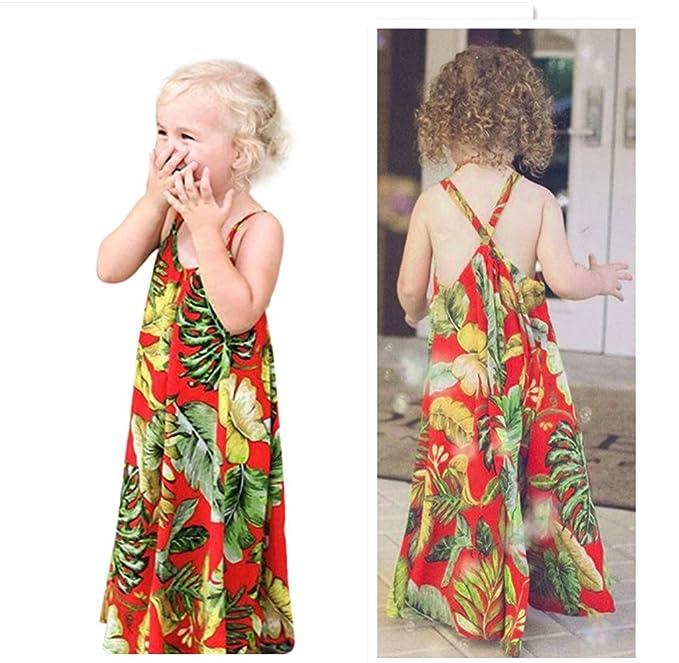 Amazon.com: Franterd – Kids Vestido de bebé niñas correas ...