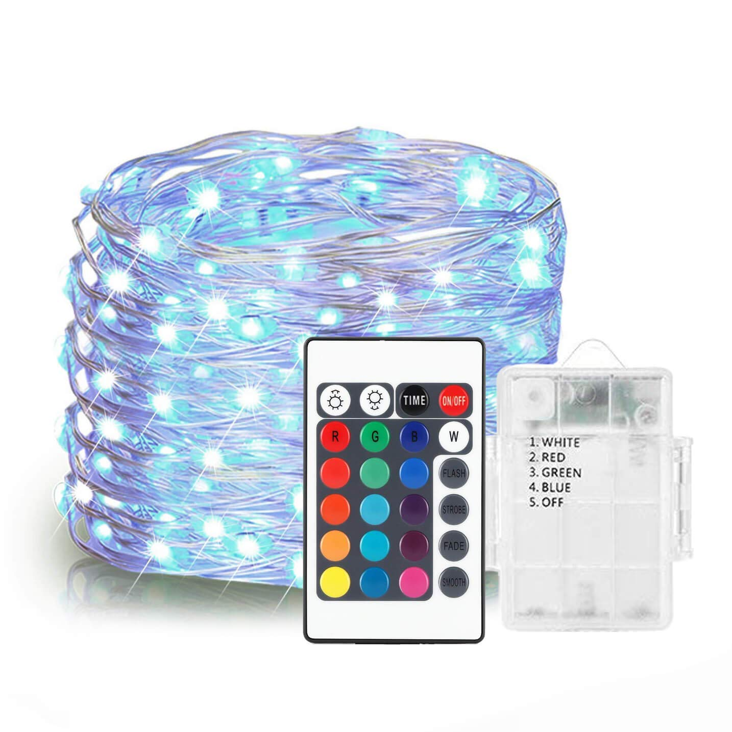 ALOVECO LED String Lights, 14.8ft 40 LED Waterproof Ball Lights, 8 Lighting Modes, Battery Powered Starry Fairy String Lights for Bedroom, Garden, Christmas Tree, Wedding, Party(Multi Color) SYNCHKG099897
