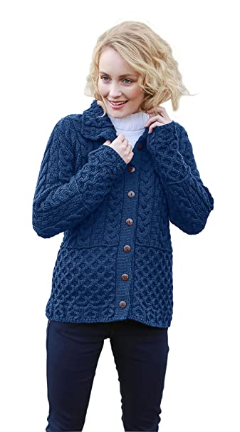 Amazon.com: Aran chaqueta de punto: Clothing