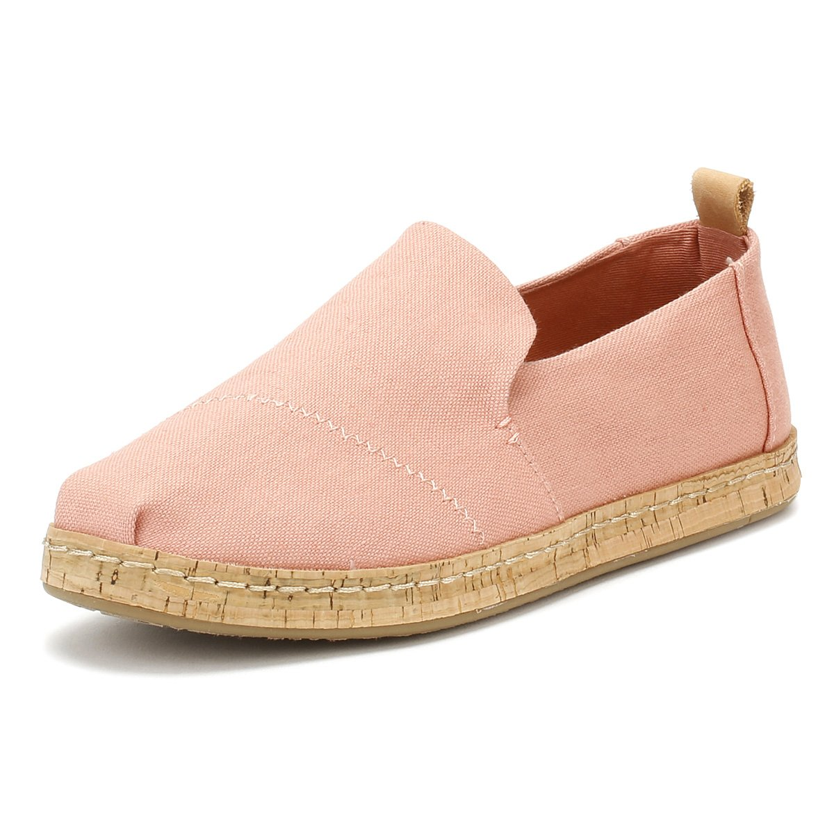 7fd51f33a Details about TOMS Women's Deconstructed Cork Alpargata Bloom Hemp Slip On  Shoes