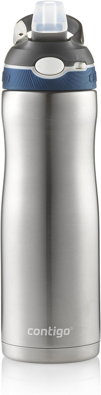 Contigo AUTOSPOUT Straw Ashland Chill Vacuum-Insulated Stainless Steel Water Bottle, 20 oz., Monaco