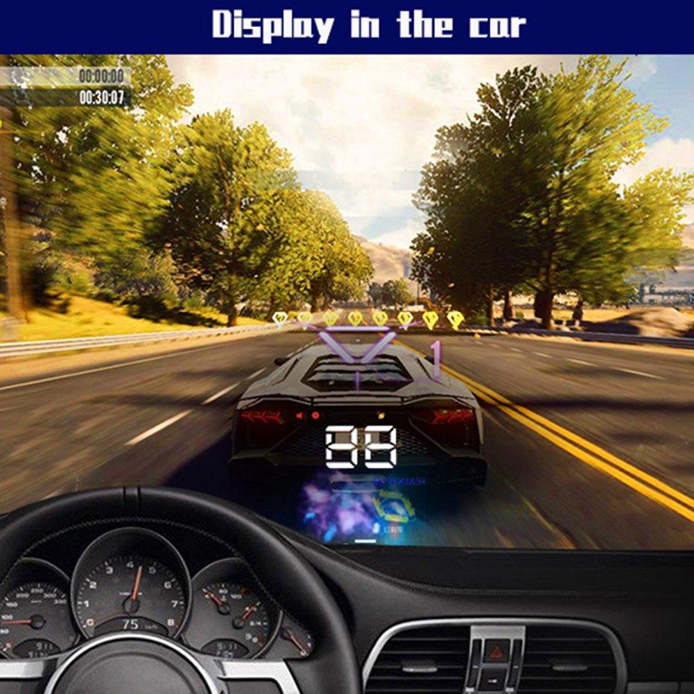LAPUTA Head Up Display GPS /& Accessories Projector 3.5 inch Car Digital Head Up Display Windshield Projector Speedometer Overspeed