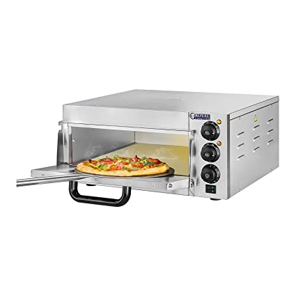Royal Catering - RCPO-2000-1PE - Horno para pizza - 1 compartimiento -