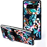 Samsung Galaxy Note 8 Case, Note 8 Marble Cases with Pop up Kickstand [Shockproof +Anti-Scratch] Fashion Soft TPU Bumper and Holder Stand Black Cover Case for Samsung Galaxy Note 8 (Flowers)