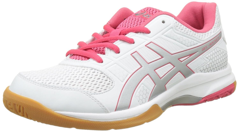 Blanc (blanc Rouge rouge argent 0119) ASICS Gel-Rocket 8, Chaussures de Volleyball Femme 43.5 EU