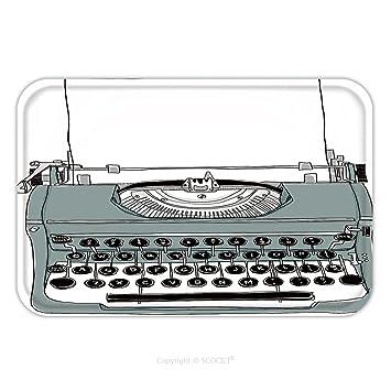 ... alfombra alfombra gris de máquina de escribir antigua 112764172 para interior/exterior/cuarto de baño/cocina/Estaciones de trabajo: Amazon.es: Jardín