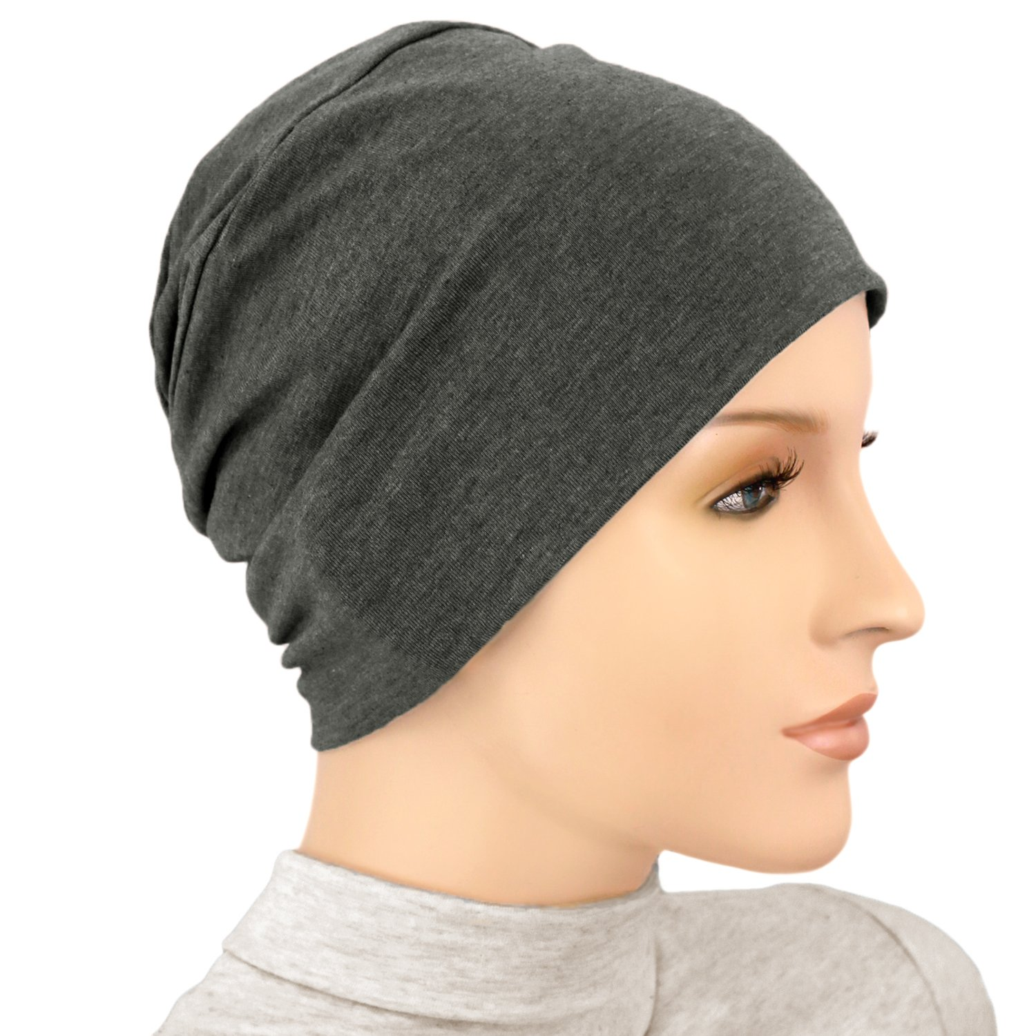Hats for You Women's Activity Chemo Cap, Charcoal, One Size
