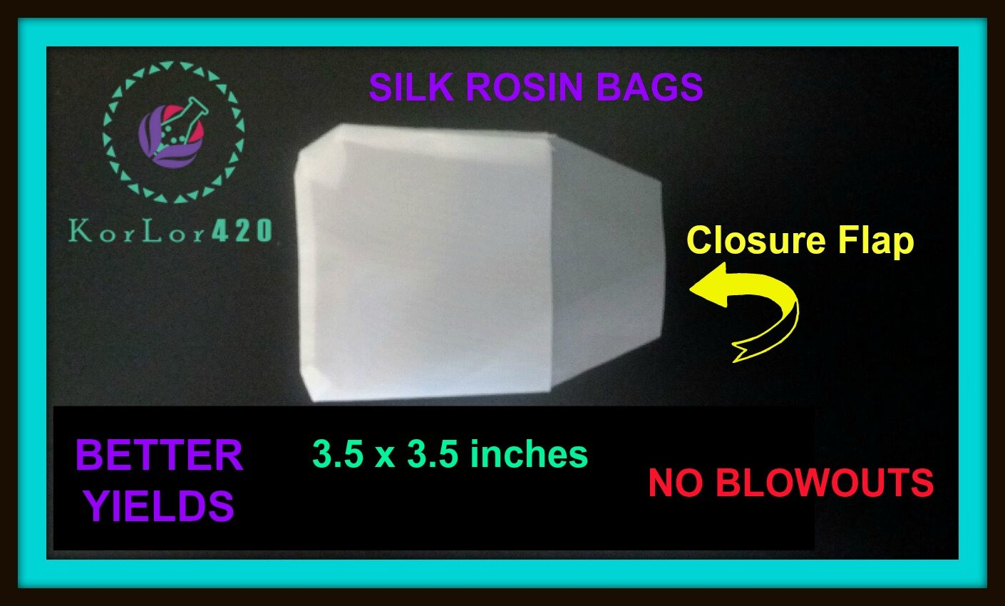 Rosin Press Bags 90 Micron 3 X 3 25 BAGS REUSABLE 100/% SILK