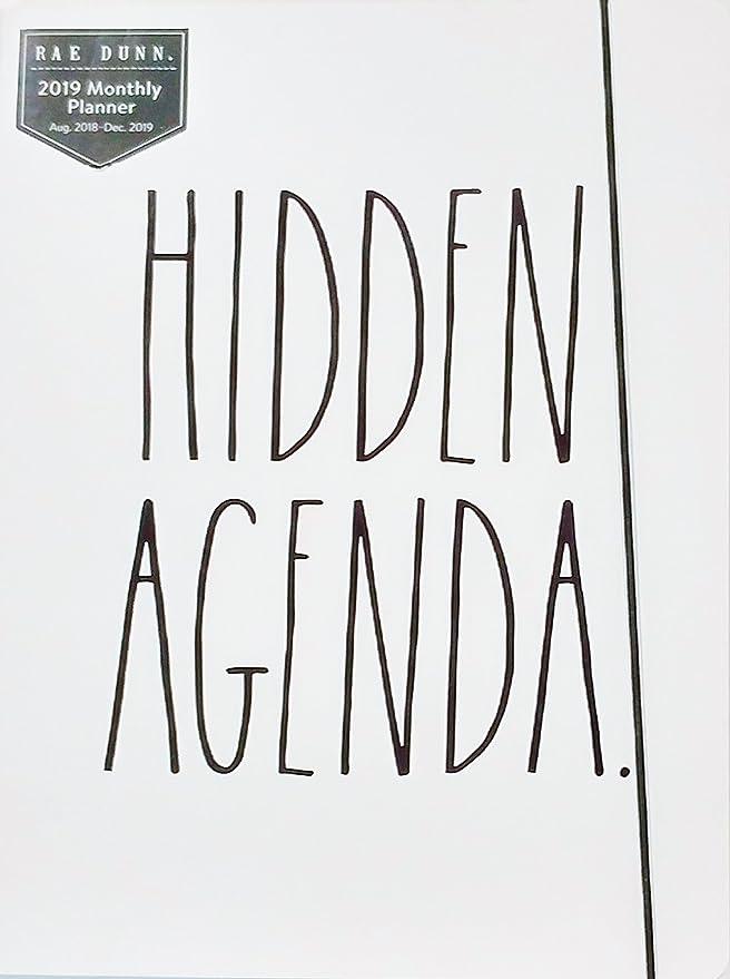 Rae Dunn - Agenda oculta - 2019 planificador mensual ...