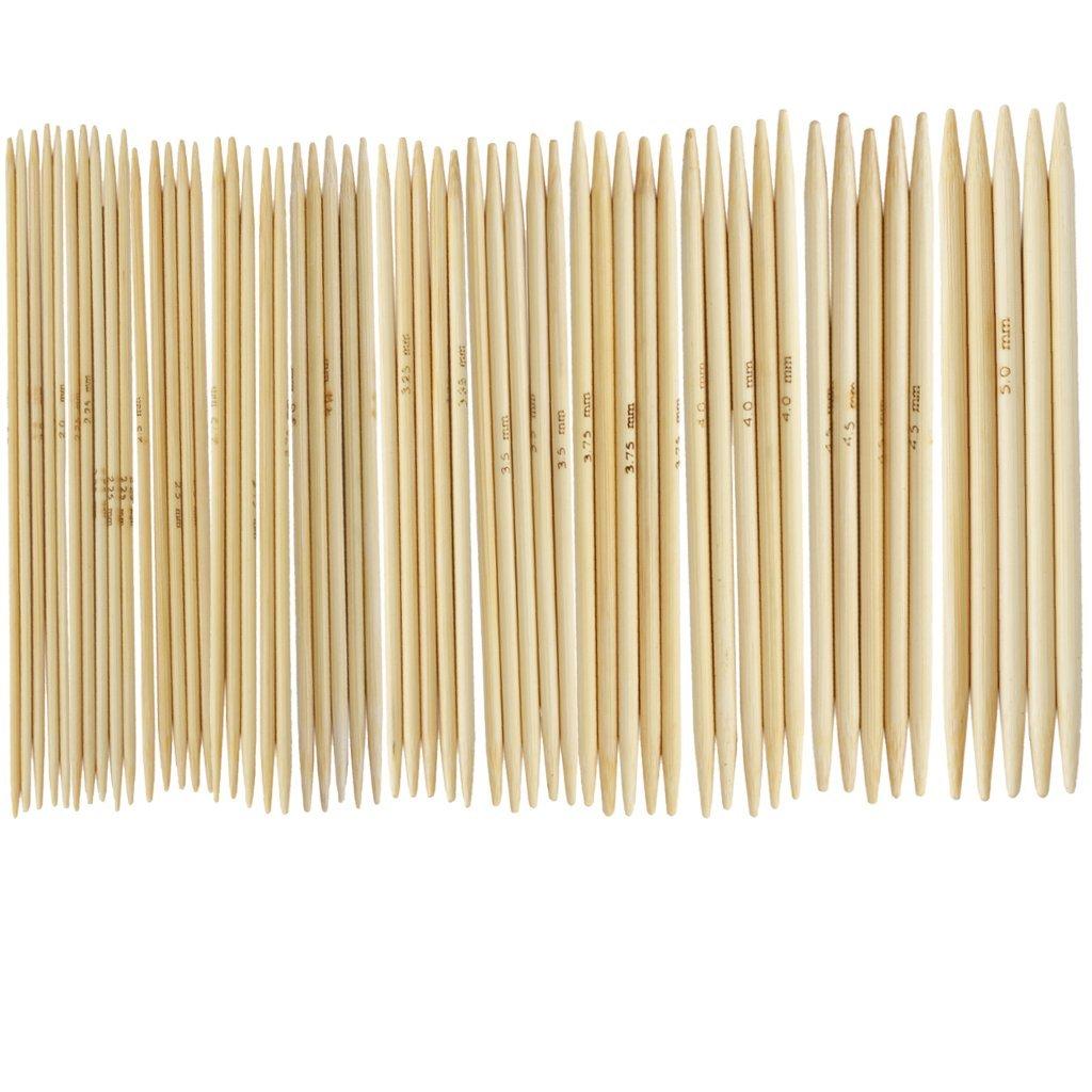 TOOGOO(R) 11 Set aghi 4.9 'guanti di bambu' maglia 2, 0 - 5, 0 mm US 0-8 SHOMAGT14345