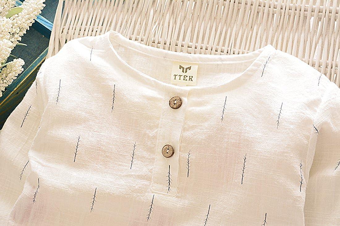 BANGELY Kids Boys Summer 2Pcs Clothes Set Short Sleeve Cotton T-Shirt and Harem Shorts Z792