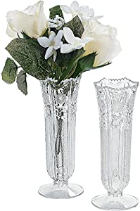 Fun Express Small Plastic Bud Vases - Decorative Accessories (Set of 12) for Wedding and Home Decor