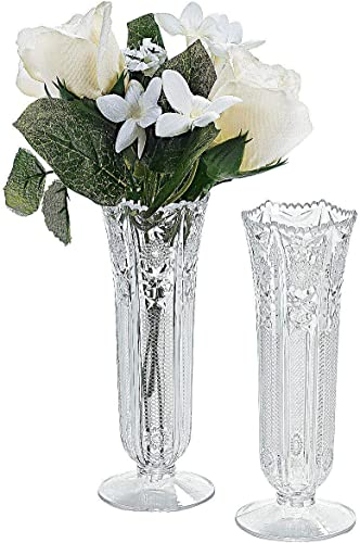 Fun Express Small Plastic Bud Vases – Decorative Accessories Set of 12 for Wedding and Home Decor