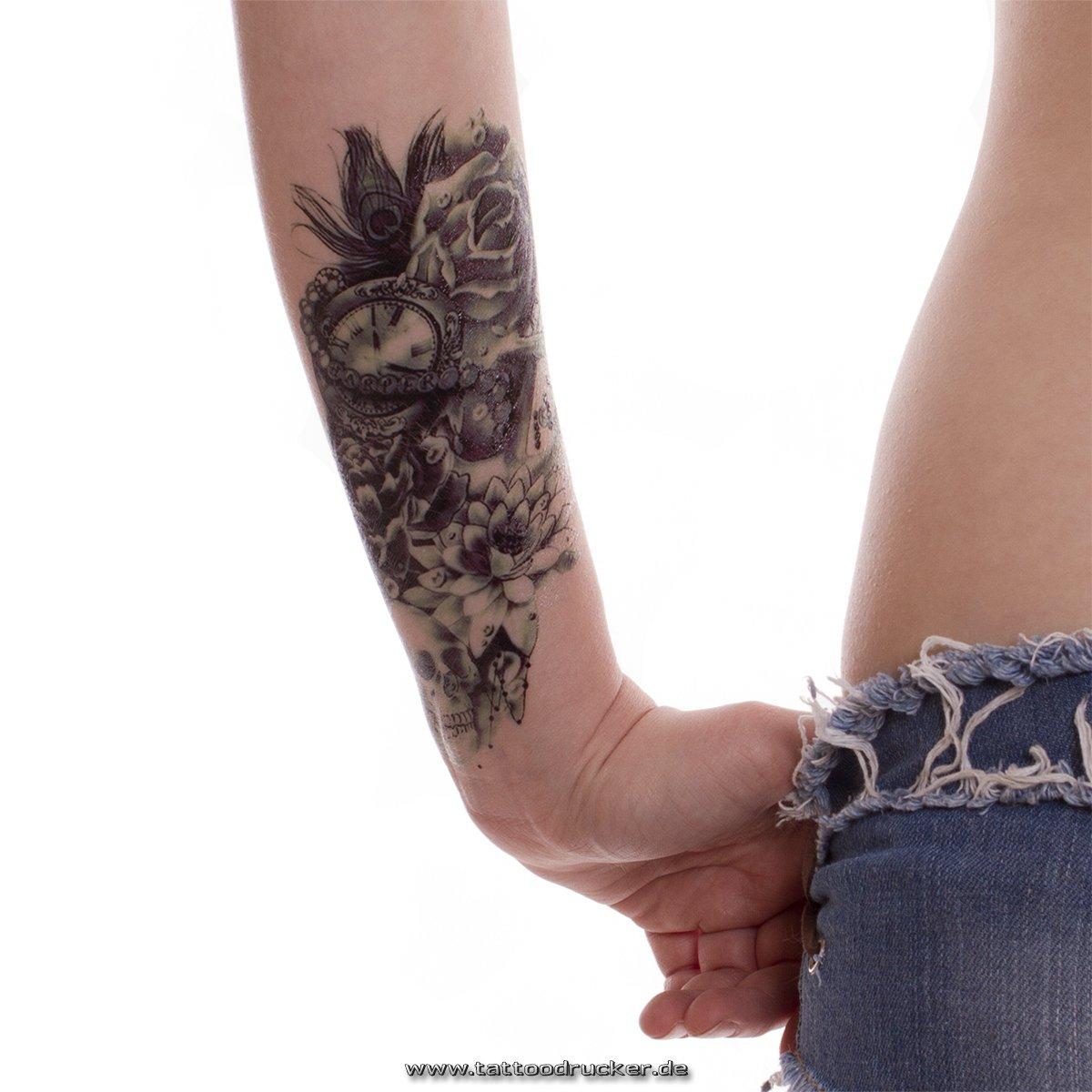 Tatuaje para el brazo negro y azul oscuro, tatuaje adhesivo ...