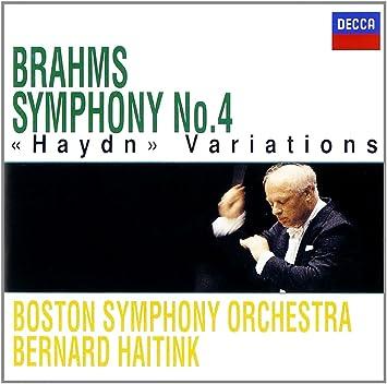 ブラームス:交響曲第4番、ハイドンの主題による変奏曲