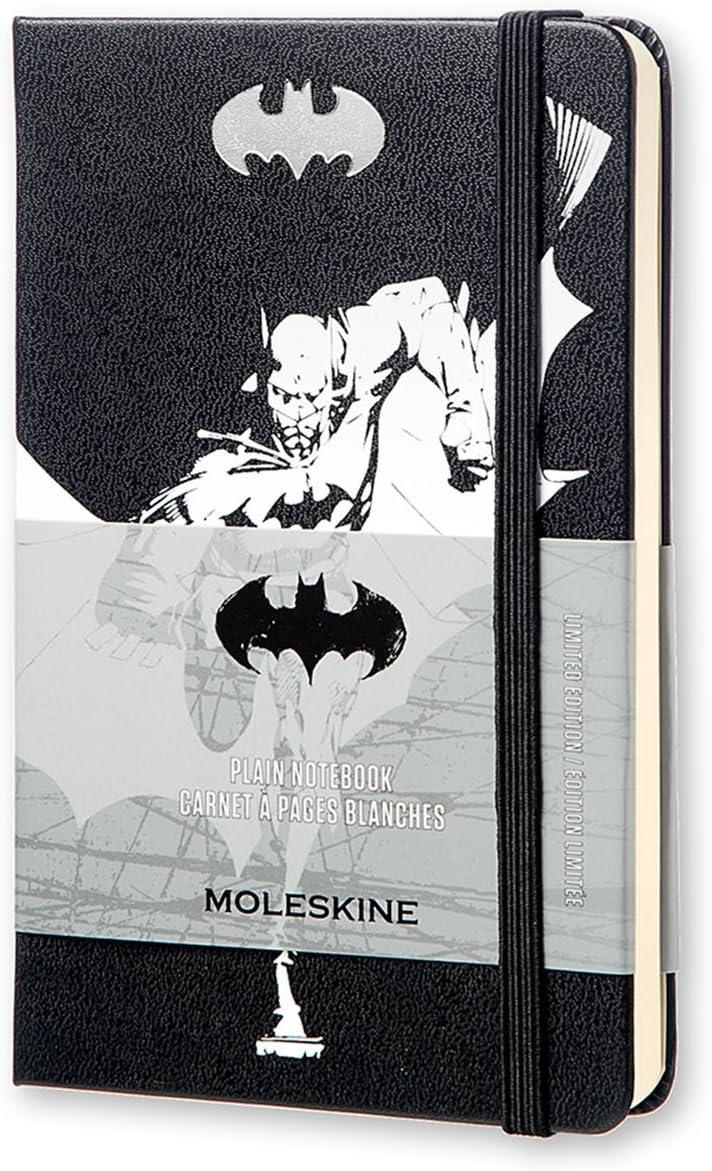 "Moleskine Limited Edition Batman Notebook, Hard Cover, Pocket (3.5"" x 5.5"") Plain/Blank, Black, 192 Pages"