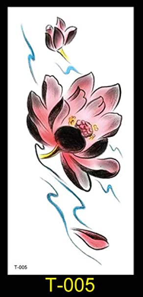 Flor del brazo tatuaje flor impermeable etiqueta engomada del ...
