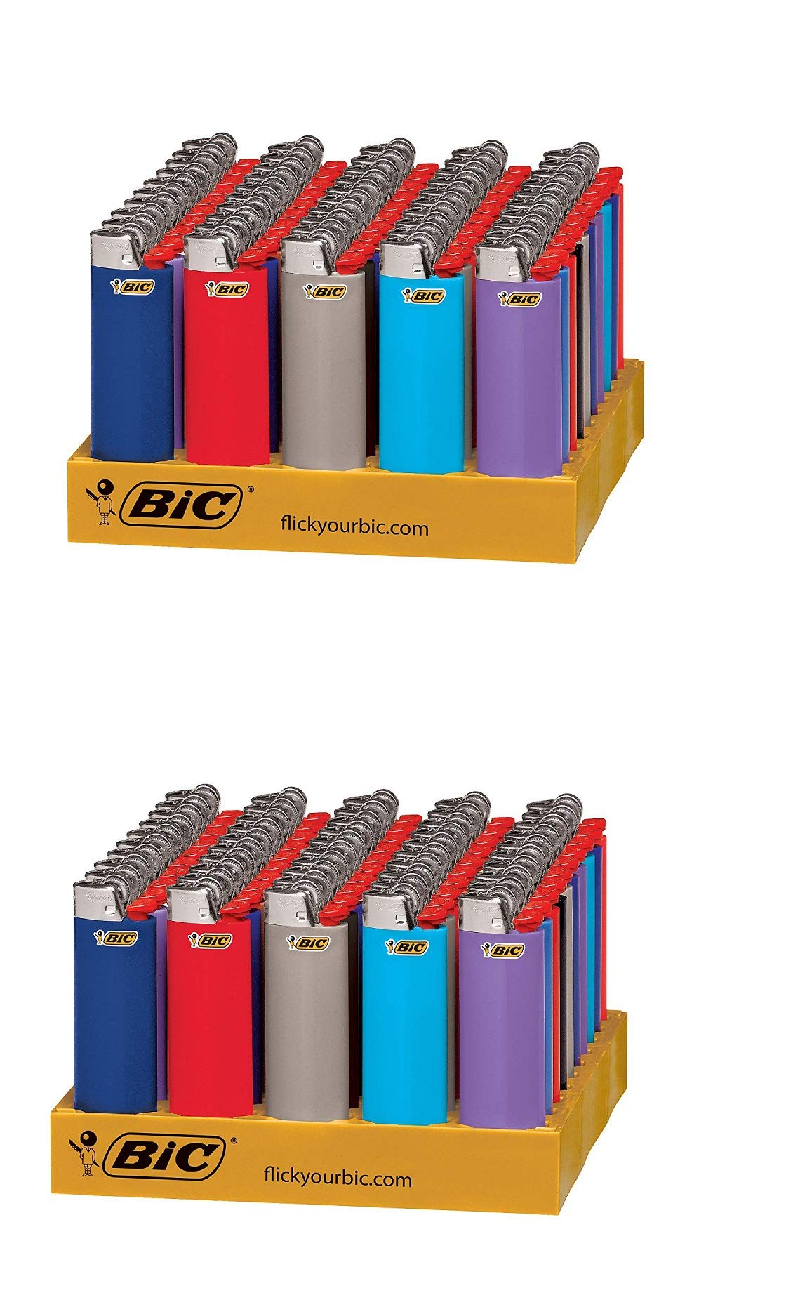 BIC Classic Lighter, Assorted Colors, 100 pieces