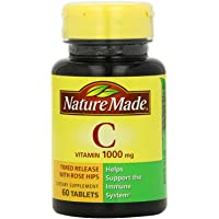 Set of 3 Nature Made Vitamin C 1000mg Timed Release with Rose Hips 60 Tablets by Maven Gifts