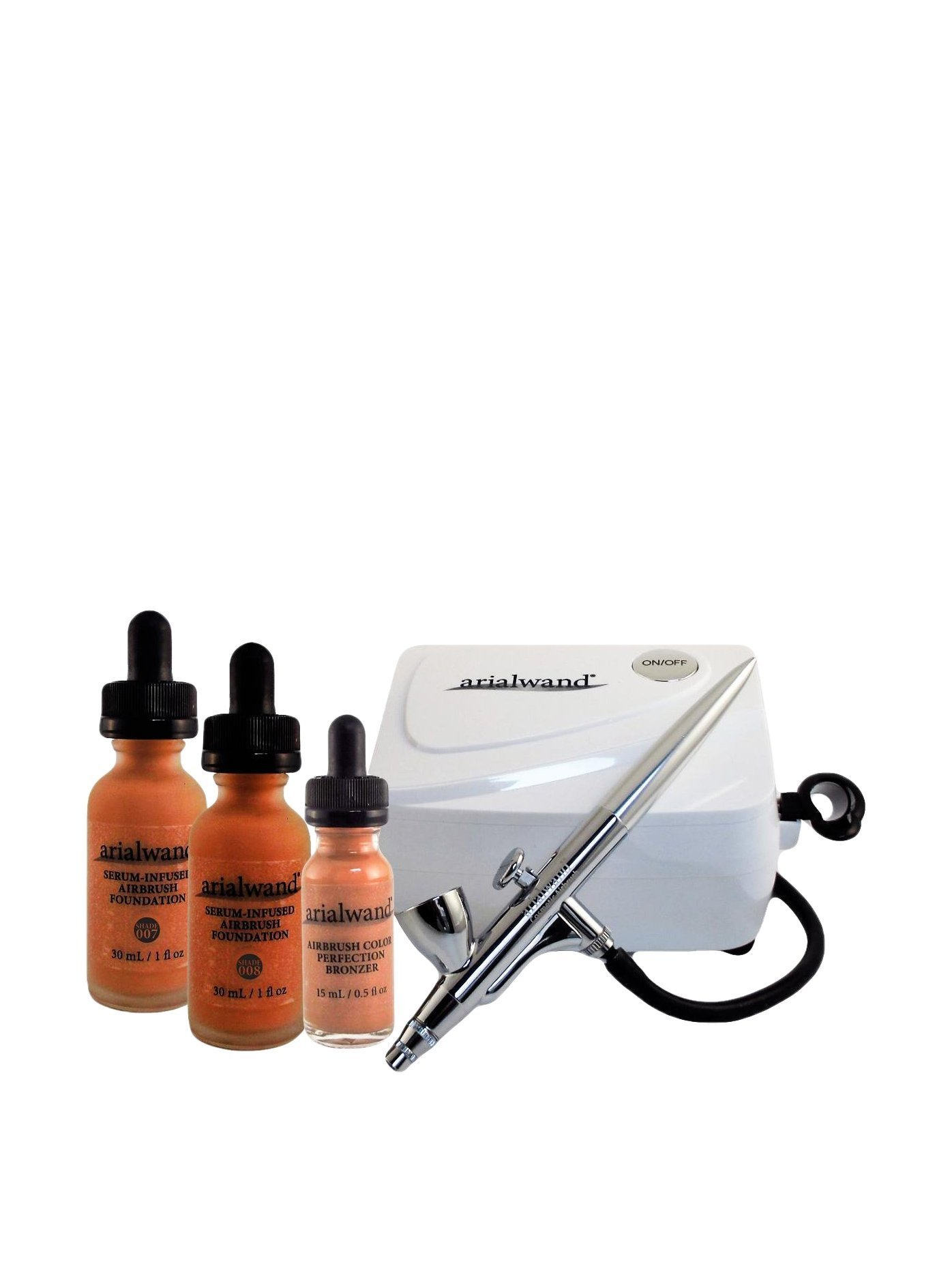 Arialwand Airbrush Kit with Serum Infused Foundation, Deep