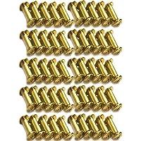 Xinlie 50 PCS Tornillo de Cuero de Encuadernación