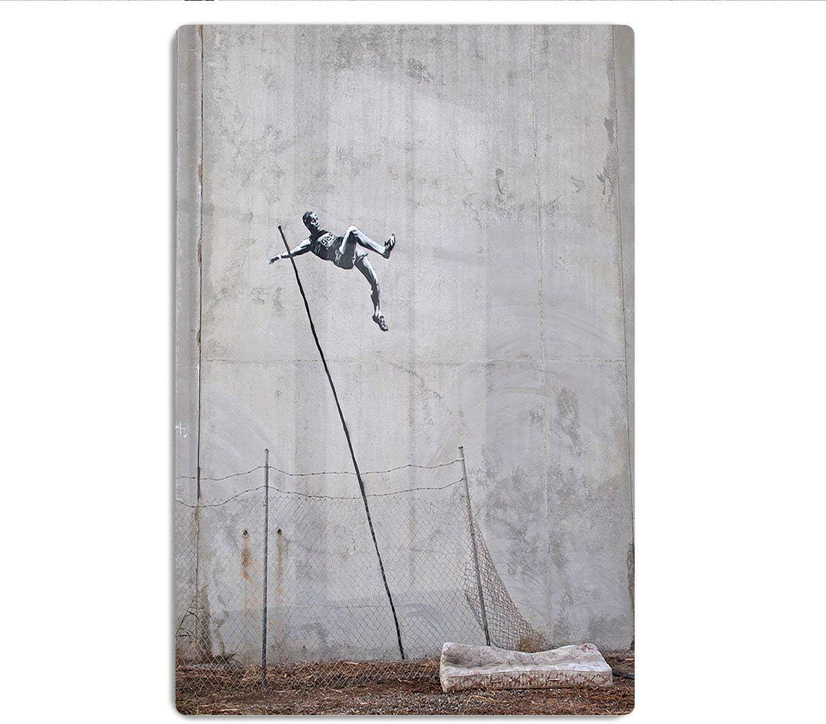 Canvas Art Rocks Banksy Pole Vaulter HD Metal Print, Metal ...