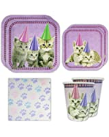 Kitten Standard Party Packs (65+ Pieces for 16 Guests!), Kitten Party Supplies, Cat Birthday, Kitten Decorations