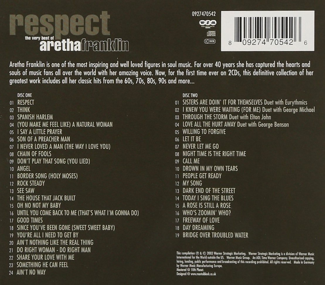 Respect:  The Very Best of by Franklin, Aretha