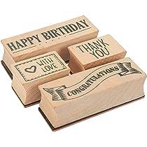 Amazon.com: 4-Piece tarjeta Making Juego de sellos – Madera ...