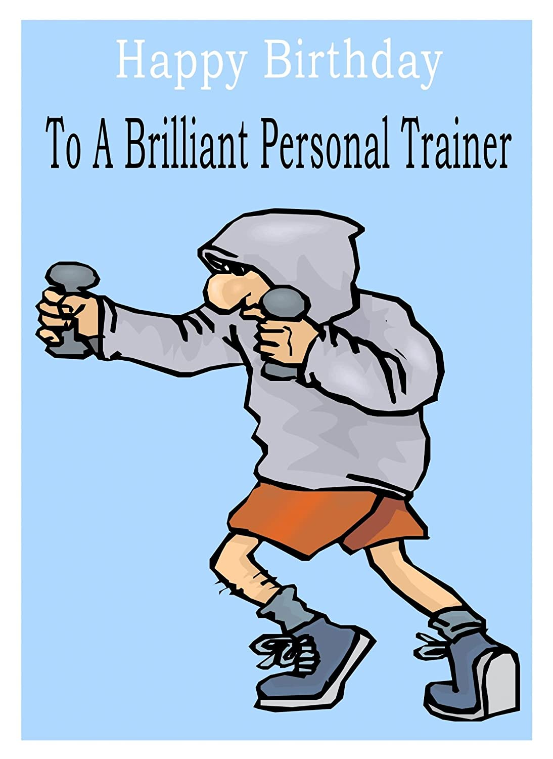 Personal Trainer Birthday Card Amazoncouk Office Products