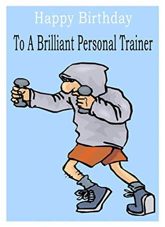Personal Trainer Birthday Card Amazon Office Products