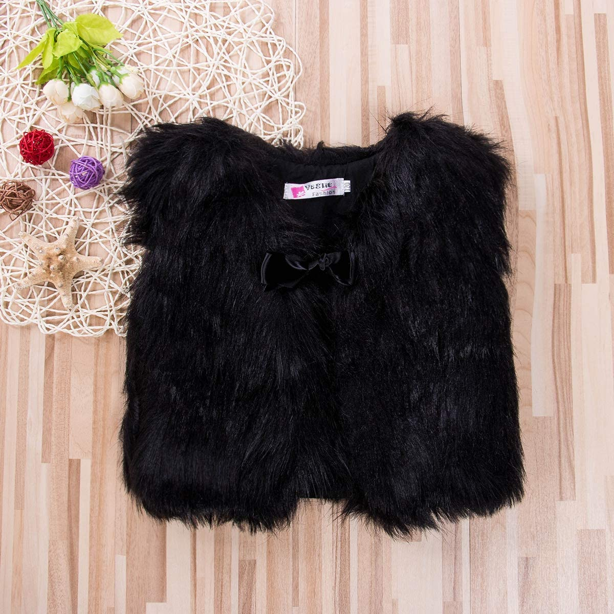 WANGSGOGO Toddler Baby Girl Faux Fur Vest Coat Winter Warm Waistcoat Gilet Outerwear Infant Clothes