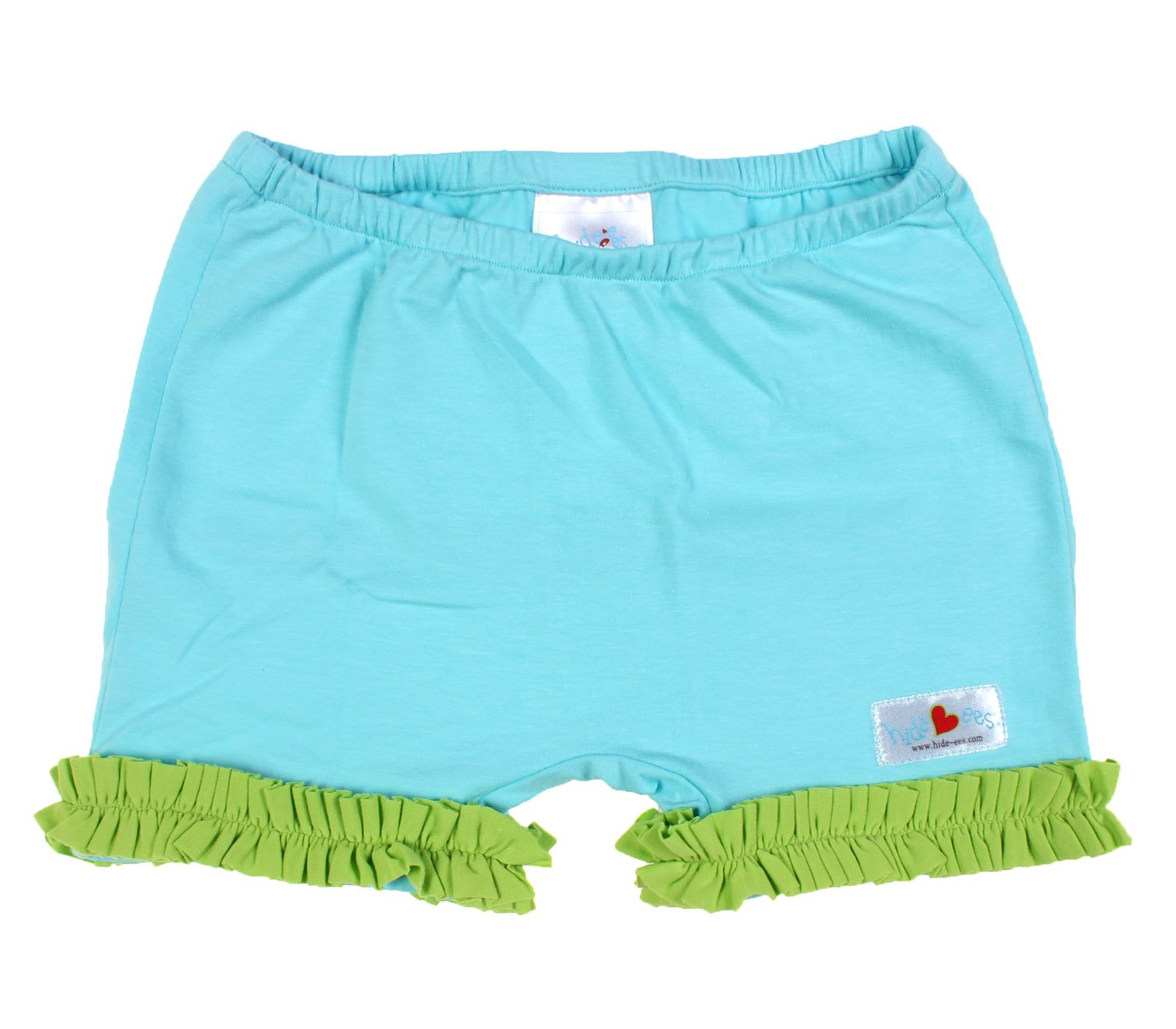 Hide-ees Better Than Bloomers Girls Under Dress Shorts WITH Ruffle (2T-4T, Sea Glass-ees)