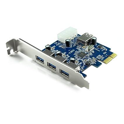 Uspeed - Tarjeta PCIE con USB 3.0: Amazon.es: Electrónica