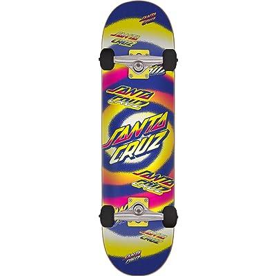 "Santa Cruz Skateboards Hypno Dot Purple/Red Mini Complete Skateboard - 7.25"" x 29.9"" : Sports & Outdoors"